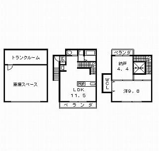 高槻市賃貸アパート (仮称)高槻・月見町マンション1SLDKタイプ 間取り図面.jpg