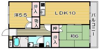 高槻市賃貸マンション メゾン千代田 間取り図面.jpg