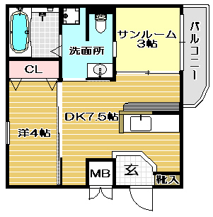 高槻市賃貸マンション ラポルテ 間取り.jpg