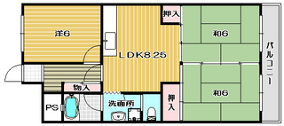 高槻市賃貸マンション 第一丸信ハイツ 401号室 間取り図.jpg
