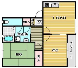 高槻市賃貸アパート ハイツファミールB棟 間取り.jpg