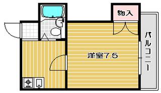 高槻市賃貸マンション サンペリエ出丸町 間取り図面.jpg