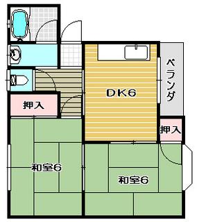 高槻市賃貸マンション コーポ・カトレア 間取り.jpg