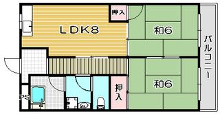 高槻市賃貸マンション コーポ・コスモ 間取り.jpg