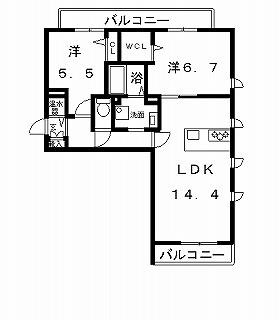 高槻市賃貸マンション 新築・シャーメゾン五十嵐邸 �@号室ネット用.jpg