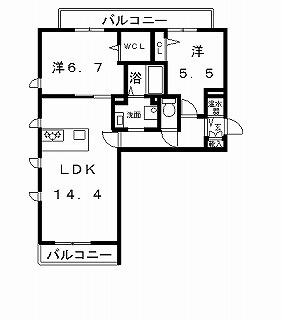 高槻市賃貸マンション 新築・シャーメゾン五十嵐邸 �B号室ネットよう.jpg