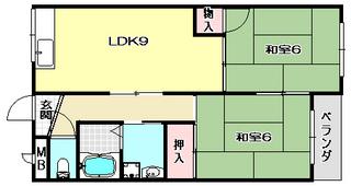 高槻市賃貸マンション ジョリーメゾン高槻 間取り.jpg