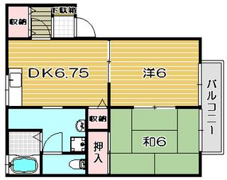 高槻市賃貸アパート ドミールサンワ 間取り.jpg