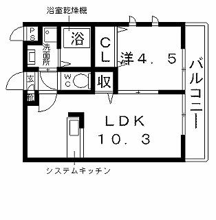 高槻市賃貸アパート ニューアムールクラニア 間取り図面.jpg