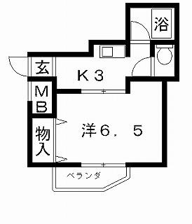 高槻市賃貸マンション ポエジーハイム(1号室) 間取り図面.jpg
