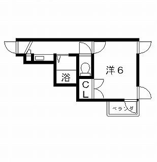 高槻市賃貸マンション ポエジーハイム(3号室) 間取り図面.jpg