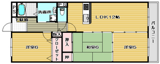 高槻市賃貸マンション マンションヒット 間取り図面.jpg