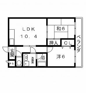 高槻市賃貸マンション メゾン飛鳥 間取り図面.jpg