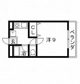 高槻市賃貸マンション ヴィラクラージュ 間取り図面.jpg