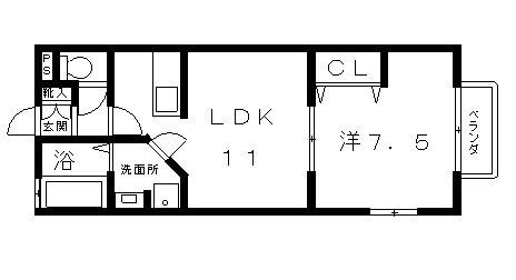 高槻市 賃貸 アパート ハオス八幡6252タイプ 間取り.jpg