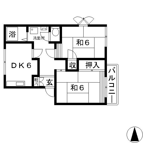 高槻市 賃貸 アパート ホワイティハイツ 間取り.jpg