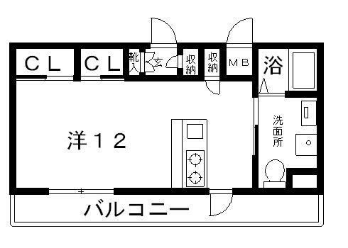 高槻市 賃貸 マンション シャーメゾンミッド高槻4号室 間取り.jpg