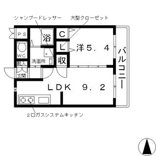 高槻市 賃貸 マンション 川西町 オートロック 1LDK RC造 ヴィラコンフォート_t 間取.jpg