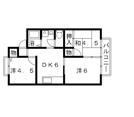 高槻市 賃貸ハイツベルフィーユ3DK 間取り.jpg