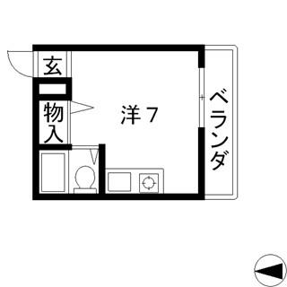 高槻市 賃貸マンション 駅近 単身 JR高槻駅 1K 西尾マンション_t 間取.jpg