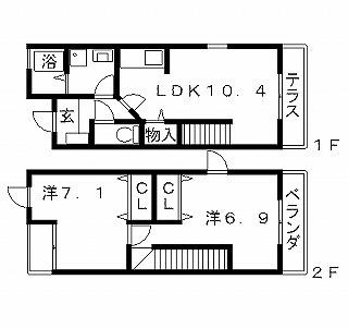 高槻市賃貸アパート ディアコート 間取り図面.jpg