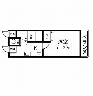 高槻市賃貸マンション フェリーチェ寺本 間取り図面.jpg
