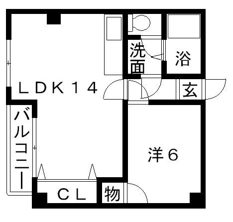 高槻市賃貸マンションエトワールM・T�U(1LDK・303号室) 間取り.jpg