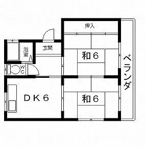 高槻市賃貸アパート 城西ハイツ 間取り図面.jpg