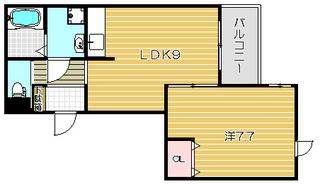 へーベル高槻 2号室 カラー.jpg