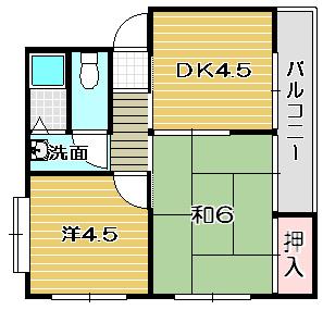 高槻市賃貸マンション コーポブランシェ春日|間取.jpg