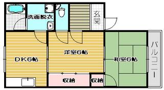 高槻市賃貸アパート サンハイツカワバタ|間取.jpg