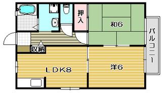 高槻市賃貸アパート ドミール津之江|間取.jpg