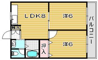 高槻市賃貸 マンション サンワロイヤルマンション 間取り.jpg