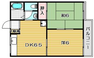 高槻市賃貸アパート ドミール千代田 間取