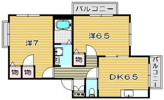 高槻市賃貸アパート パストラル23の間取りだよ