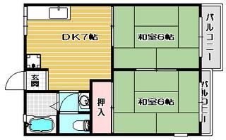 高槻市賃貸アパート ファミール城東|間取.jpg
