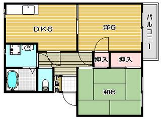 高槻市賃貸アパート フレグランス大手町|間取.jpg