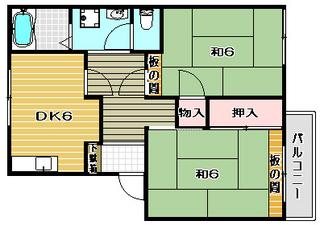 高槻市賃貸アパート ホワイティハイツC棟 間取.jpg