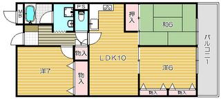 ライオンズマンション高槻503号|間取カラー.jpg