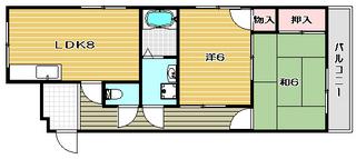 ヴィラカワバタ2号館 1号室 カラー.jpg