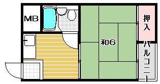 高槻市賃貸マンション 第2竹村コーポ|間取.jpg