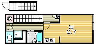 高槻市賃貸アパート Y's Villa 2F|間取.jpg