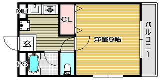 高槻市賃貸マンション ヴィラクラージュ 間取り.jpg